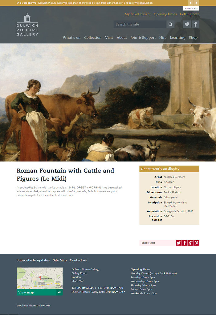 Dulwich Picture Gallery artwork page